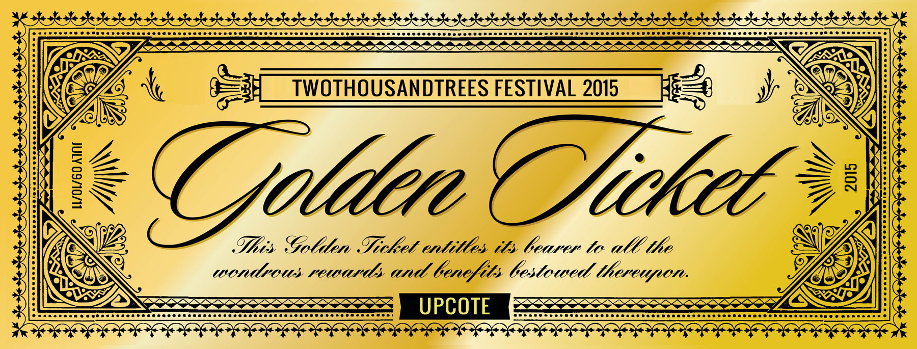 The Golden Ticket competition is back. Bigger & Better than ever ...